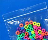 ultra clear lock top zip bags beads